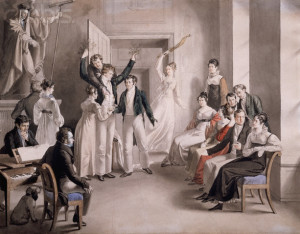 Franz Schubert Rehearsing a Musical Serenade With His Friends by Leopold Kupelwieser